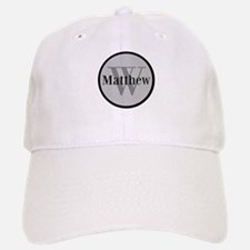 Gray Name and Initial Monogram Baseball Baseball Baseball Cap