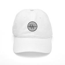 Gray Name and Initial Monogram Baseball Baseball Cap