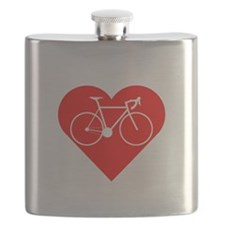 I Heart Cycling Flask