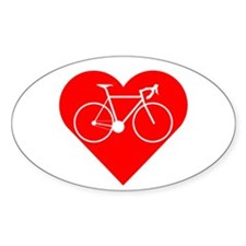 I Heart Cycling Decal