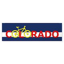 Colorado Mountain Bike Bumper Bumper Sticker
