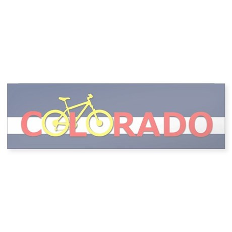 Colorado Mountain Bike Bumper Sticker