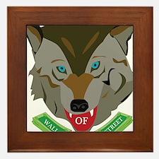 Ze Wolf of Wall Street Framed Tile