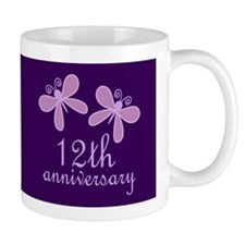 12th Anniversary Keepsake Mugs