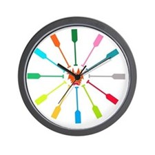 dragon like colorful paddle Wall Clock