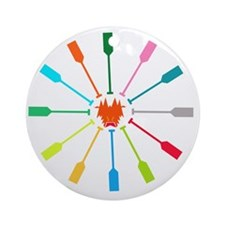 dragon like colorful paddle Round Ornament