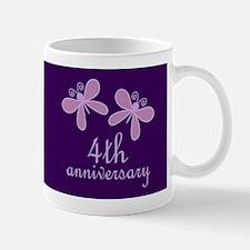 4th Anniversary Keepsake Mugs