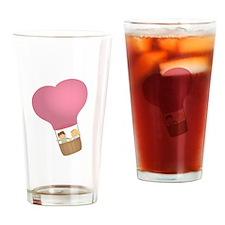 Cute couple in hot air balloon, sweet love Drinkin