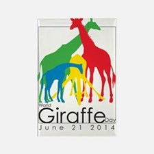 Wolrd Giraffe Day Rectangle Magnet