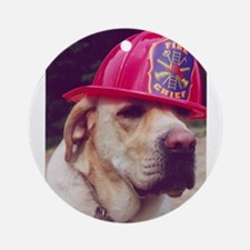 Fireman Rudy Ornament (Round)