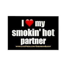 """Love My Smokin' Hot Partner"" Rectangle Magnet (10"