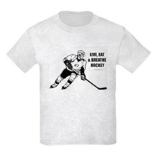 LIVE, EAT, BREATHE HOCKEY T-SHIRT