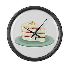 Wedding Cake Slice Large Wall Clock