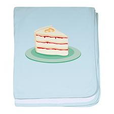 Wedding Cake Slice baby blanket