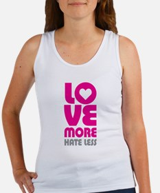 Love More Hate Less Women's Tank Top