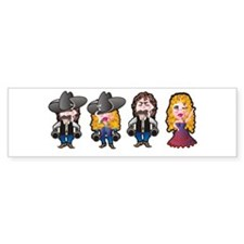 Cowboys and Cowgirls Bumper Bumper Sticker