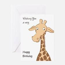 Cute Giraffe Card Greeting Cards