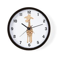 Cute Giraffe Wall Clock