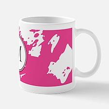 Custom Monogram PINK Abstract Mugs