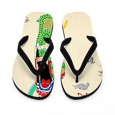 Peking Opera Guanyu Flip Flops