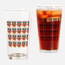 Jewelled Owls Drinking Glass