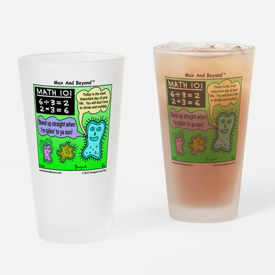 Amoeba Math Cartoon Drinking Glass