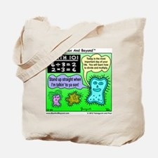 Amoeba Math Cartoon Tote Bag
