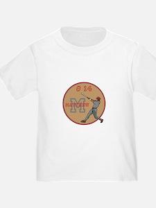 Baseball Player Monogram Number T-Shirt