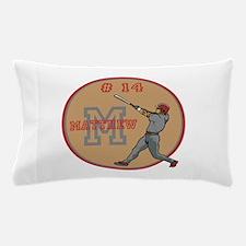 Baseball Player Monogram Number Pillow Case