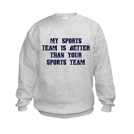 College Humor tees My Team Kids Sweatshirt