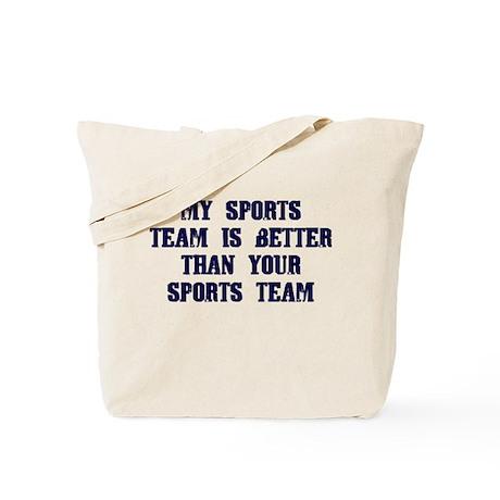 College Humor tees My Team Tote Bag