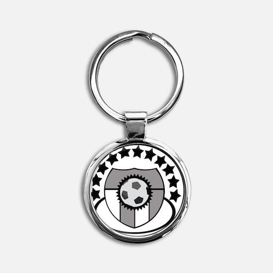 Soccer Sports Club Logo Icon For Je Round Keychain