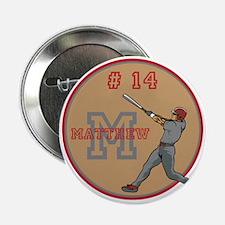 "Baseball Player Monogram Number 2.25"" Button"