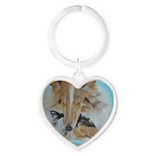 Ryan James Brandy & Molly Portrait Heart Keychain