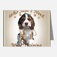 Beagle Needs More Training Note Cards (Pk of 20)