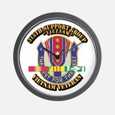 Army - 315th Support Group w SVC Ribbon Wall Clock