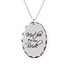 Mother of the Bride Necklace Oval Charm