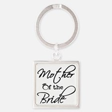 Mother of the Bride Square Keychain