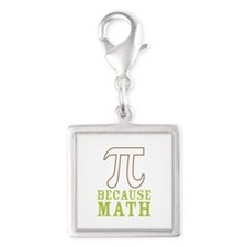Because Math Silver Square Charm