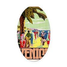 Venice Travel Oval Car Magnet