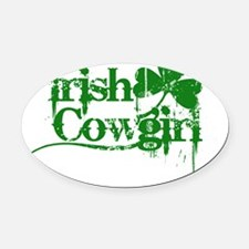 Irish Cowgirl  Oval Car Magnet