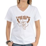 Messed With Texas Women's V-Neck T-Shirt