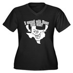 Messed With Texas Women's Plus Size V-Neck Dark T-