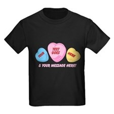 Personalized Candy Hearts Message of Love T-Shirt