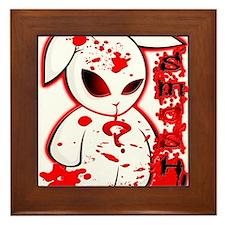 Splatter Smash Bunny Framed Tile