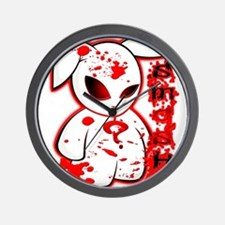 Splatter Smash Bunny Wall Clock