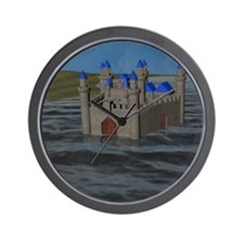 Water Castle Wall Clock