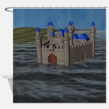 Water Castle Shower Curtain