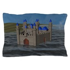 Water Castle Pillow Case