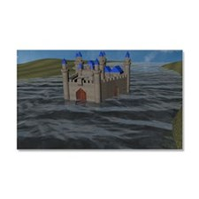 Water Castle Car Magnet 20 x 12